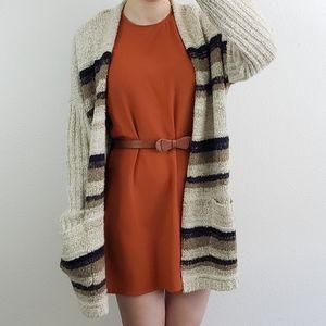 American Apparel sleeveless orange shift dress